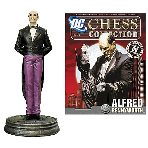 Batman Alfred Pennyworth Pawn Chess Piece with Magazine