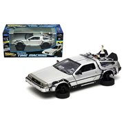 Back to the Future II Time Machine Hover Mode 1:24 Scale Die-Cast Metal Vehicle