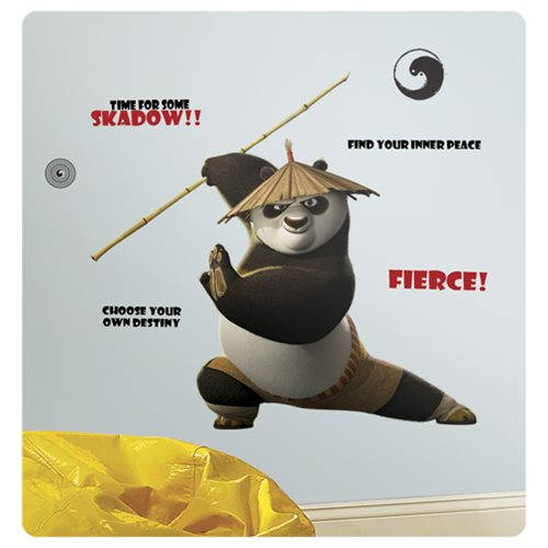 Kung Fu Panda 3 Po Peel and Stick Giant Wall Decals