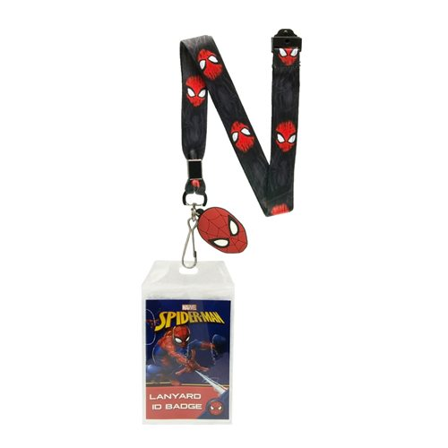 Spider-Man Border Lanyard with Badge Holder and Charm