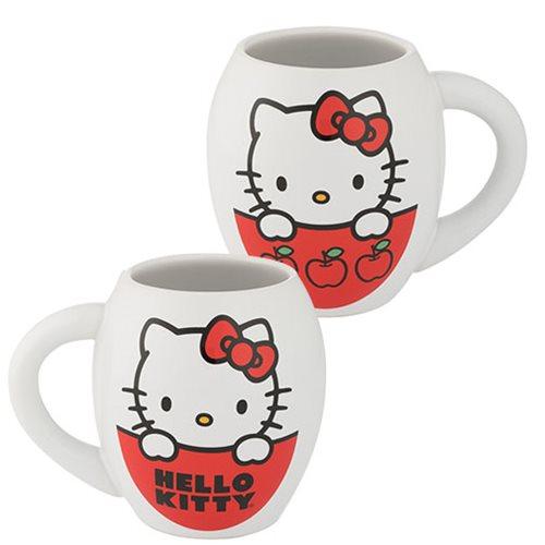 Hello Kitty I Love Apples 18 oz. Oval Ceramic Mug
