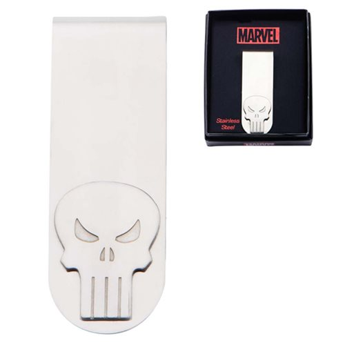 Punisher Skull Stainless Steel Money Clip