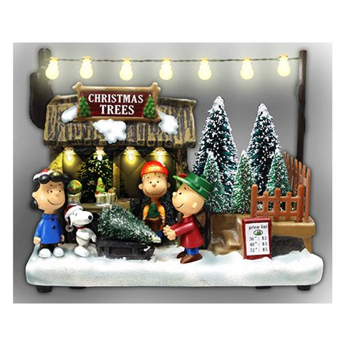 Peanuts Christmas Tree.Peanuts Musical Animated Christmas Tree Shop 7 Inch Statue