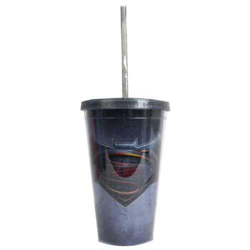 Batman v Superman Dawn of Justice Logo 16 oz. Travel Cup