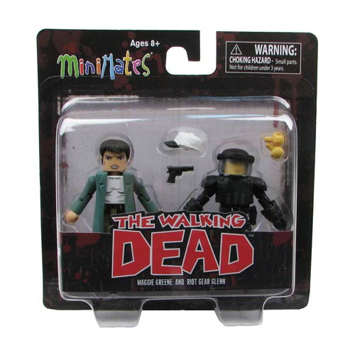 The Walking Dead Minimates Series 5 Riot Gear Glenn and Maggie Mini-Mates