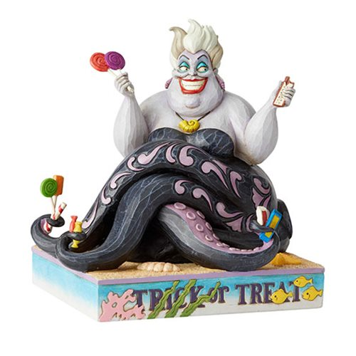 Disney Traditions Little Mermaid Ursula Halloween Deliciously Greedy by Jim Shore Statue