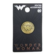 Wonder Woman Shield Pewter Lapel Pin