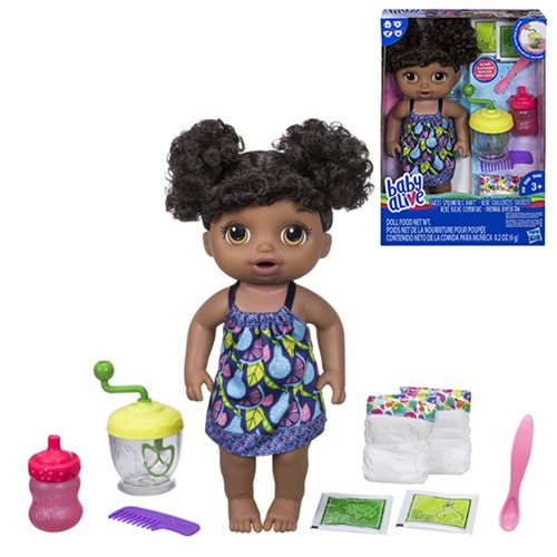 Baby Alive Sweet Spoonfuls African American Baby Girl Doll, Not Mint
