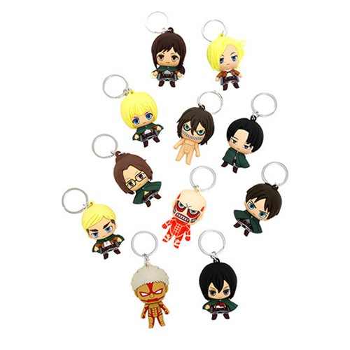 Attack on Titan 3-D Figural Key Chain Display Case