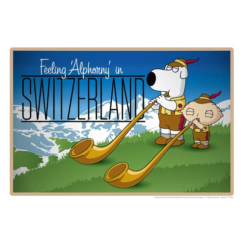 Family Guy Road to Switzerland Lithograph Print