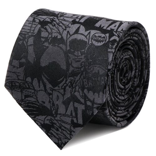 Batman Comic Black Italian Silk Tie