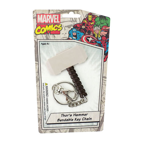 Thor Mjolnir Hammer 3-Inch Bendable Key Chain