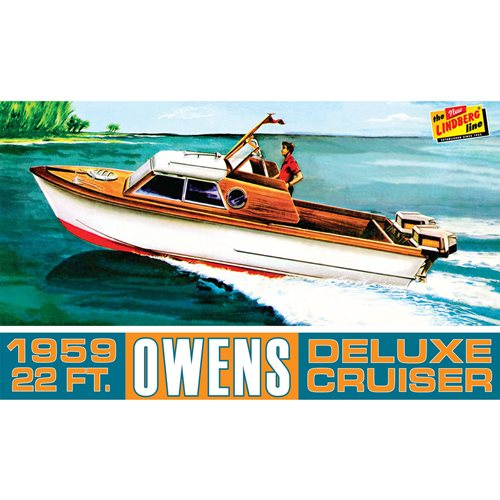 Owens Outboard Cruiser Boat 1:25 Scale Model Kit