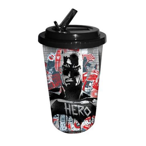 Batman v Superman Dawn of Justice Batman Hero 16 oz. Flip Straw Travel Cup