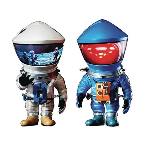 2001: A Space Odyssey DF Blue and Silver Astronaut Defo Real Soft Vinyl Figure 2-Pack