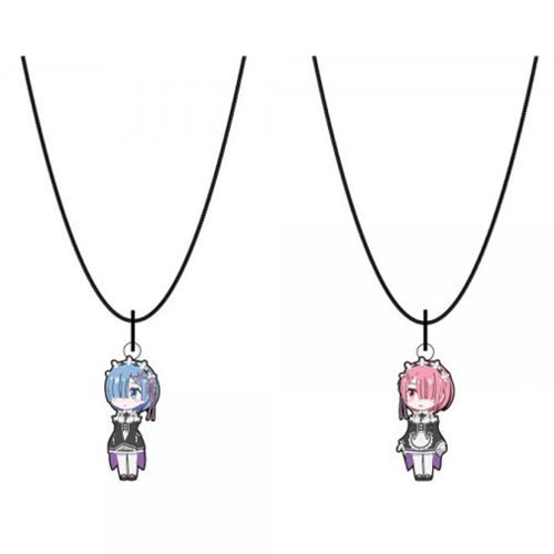 Re:Zero Rem and Ram Bestie Necklaces