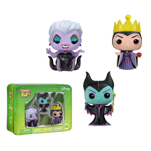Disney Villains Pocket Pop! Mini Vinyl Figure 3-Pack Tin