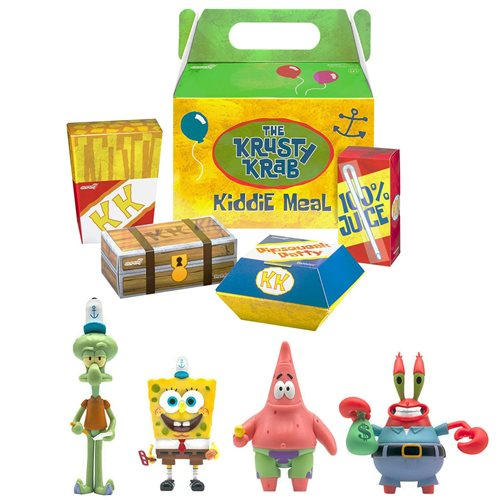 SpongeBob SquarePants Krusty Krab Meal ReAction Figures - 4 Figures