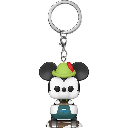 Disneyland 65th Anniversary Mickey Mouse with Matterhorn Pocket Pop! Key Chain