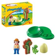 Playmobil 9121 1.2.3 Girl with Dinosaur Egg