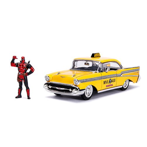 Deadpool Hollywood Rides 1957 Bel Air 1:24 Scale Die-Cast Metal Vehicle with Figure