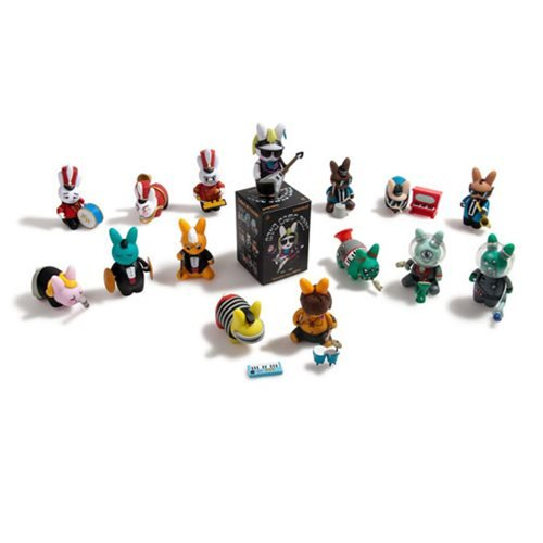 Kidrobot Band Camp 3000 Labbit Vinyl 2 1/2-Inch Mini-Figure 4-Pack