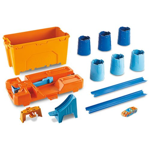 Hot Wheels Track Builder System Barrel Stunt Box Playset