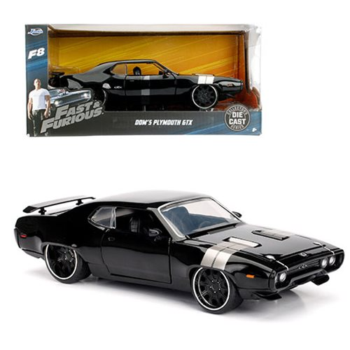 Fast and the Furious 8 Dom's 1972 Plymouth GTX 1:24 Scale Die-Cast Metal Vehicle