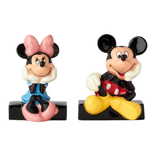 Disney Mickey Mouse and Minnie Mouse Salt and Pepper Shaker Set