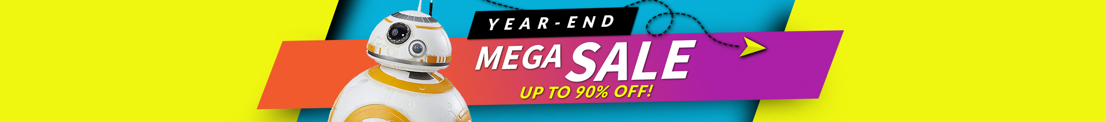 Year-End Mega Sale Up to 90% Off