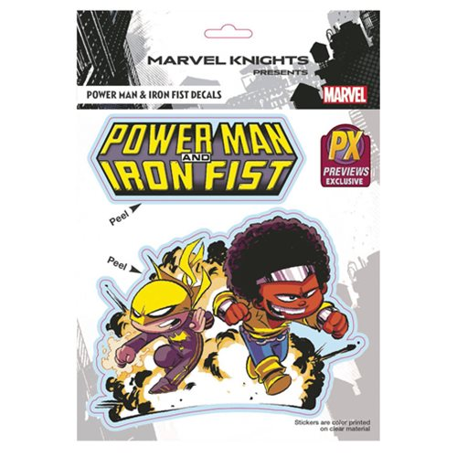 Marvel Iron Fist and Power Man by Skottie Young Vinyl Decal - Previews Exclusive