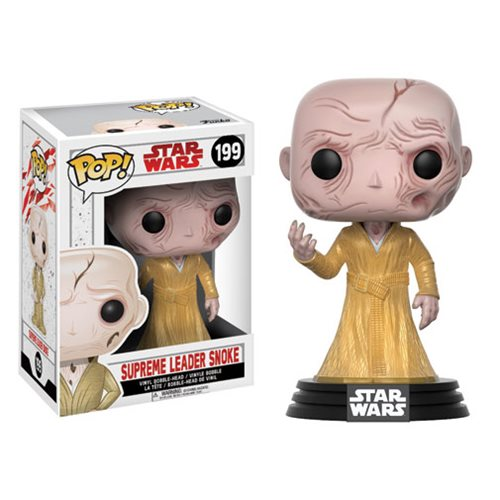 Star Wars: The Last Jedi Supreme Leader Snoke Pop! Vinyl Bobble Head #199, Not Mint