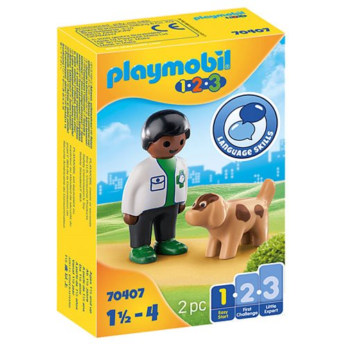 Playmobil 1.2.3 70407 Vet with Dog