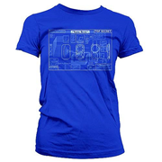 Warehouse 13 Farnsworth Blueprint Juniors Shirt