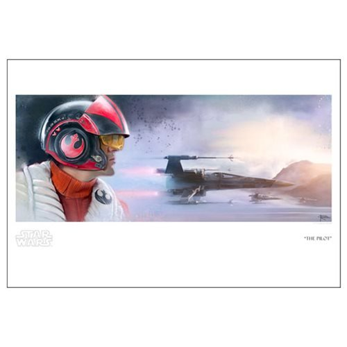 Star Wars: The Force Awakens The Pilot by Brian Rood Paper Giclee Art Print