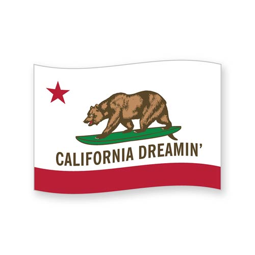 California Dreamin' Funky Chunky Magnet