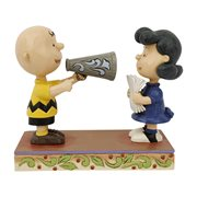 Peanuts Charlie Brown and Lucy Places Everyone! Statue by Jim Shore