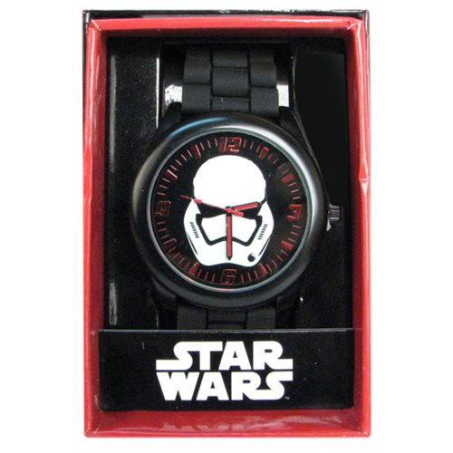 Star Wars: Episode VII - The Force Awakens Stormtrooper Black Silicone Strap Watch
