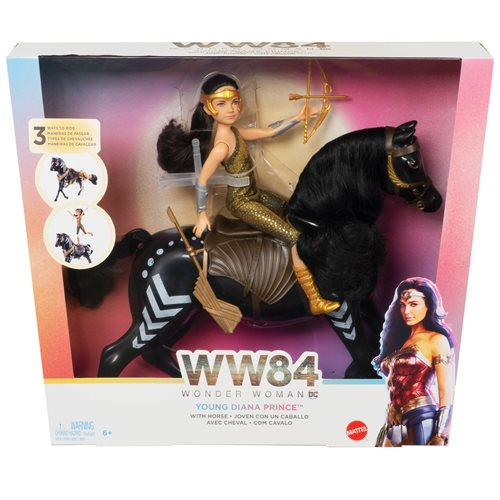 Wonder Woman 84 Young Diana And Horse Set
