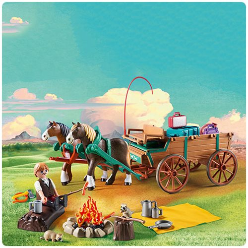 Playmobil 9477 Spirit Lucky's Dad and Wagon