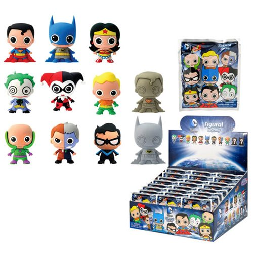 DC Comics 3-D Figural Key Chain 6-Pack