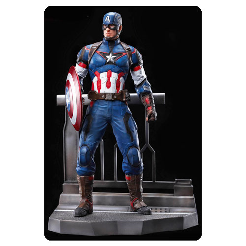 Avengers Age of Ultron Captain America Action Hero Vignette 1:9 Scale Pre-Assembled Model Kit