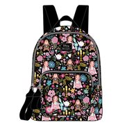 Beauty and the Beast Belle Character Floral Print Black Mini Backpack