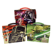 Star Wars Large Workman Carry All Tin Tote Lunch Box Set
