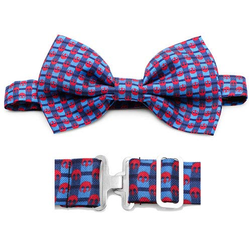 Star Wars Rebel Alliance Symbol Pattern Navy Plaid Italian Silk Bowtie
