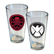 Agents of SHIELD Rivals Pint Glass 2-pack