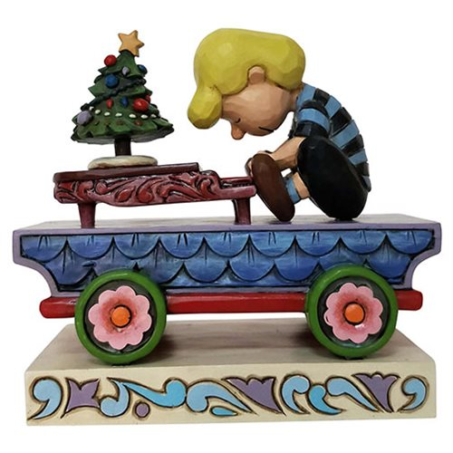 Peanuts Schroeder Train Christmas Concerto by Jim Shore Statue