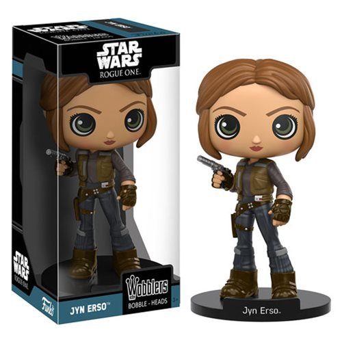 Star Wars Rogue One Jyn Erso Bobble Head, Not Mint