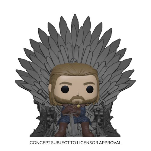 Game of Thrones Ned Stark on Throne Deluxe Pop! Vinyl Figure