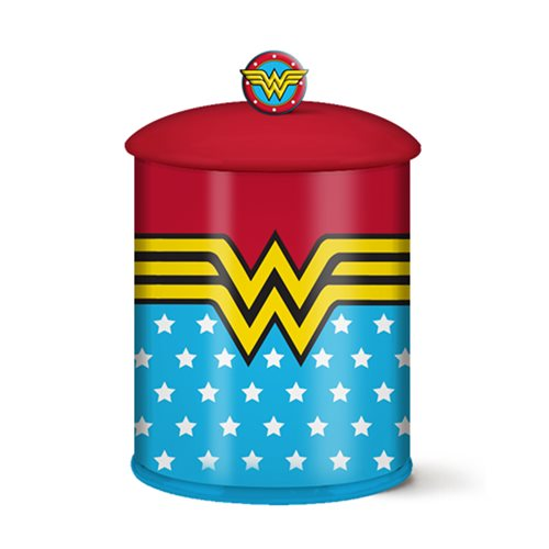Wonder Woman Stars and Stripes Ceramic Cookie Jar
